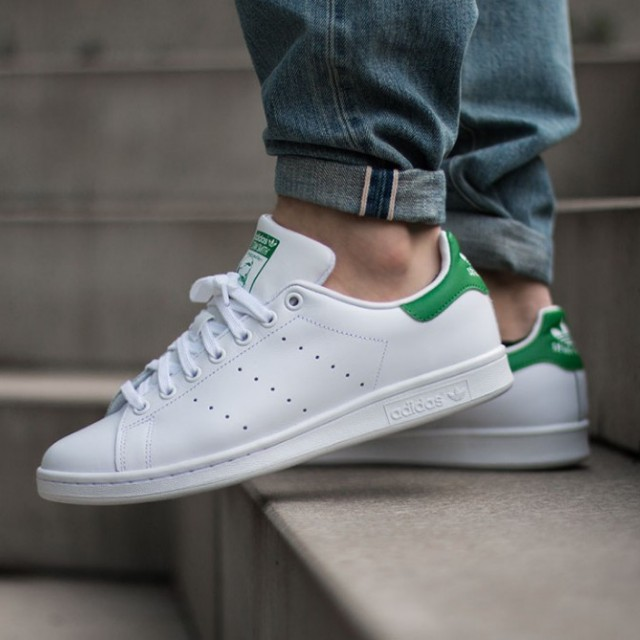 ADIDAS STAN SMITH (FTWR WHITE   CORE WHITE   GREEN) 28a32b292