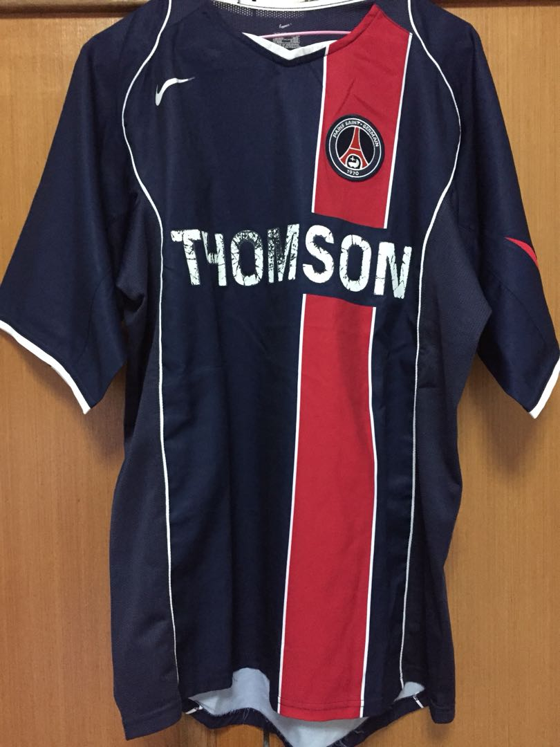 best service 99563 1138e Authentic Nike PSG Jersey, Sports, Sports Apparel on Carousell