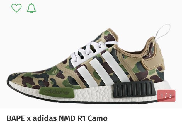 17aae1d8a9044 BNWT Authentic LIMITED EDITION BAPE x Adidas NMD