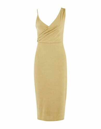 BNWT GOLD WRAP DRESS