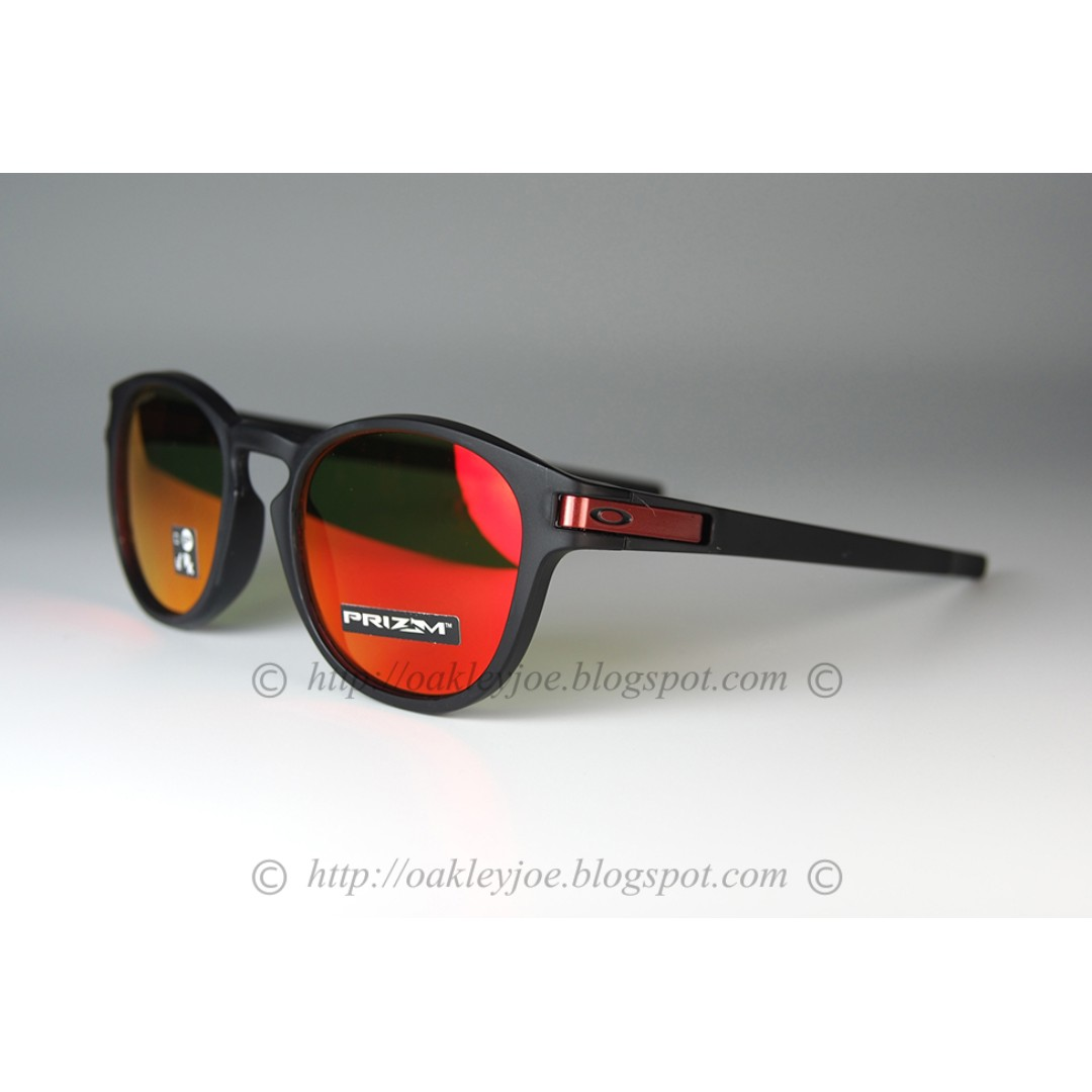 576f823cec Brand New Oakley Latch Asian Fit matte black + prizm ruby oo9349 ...