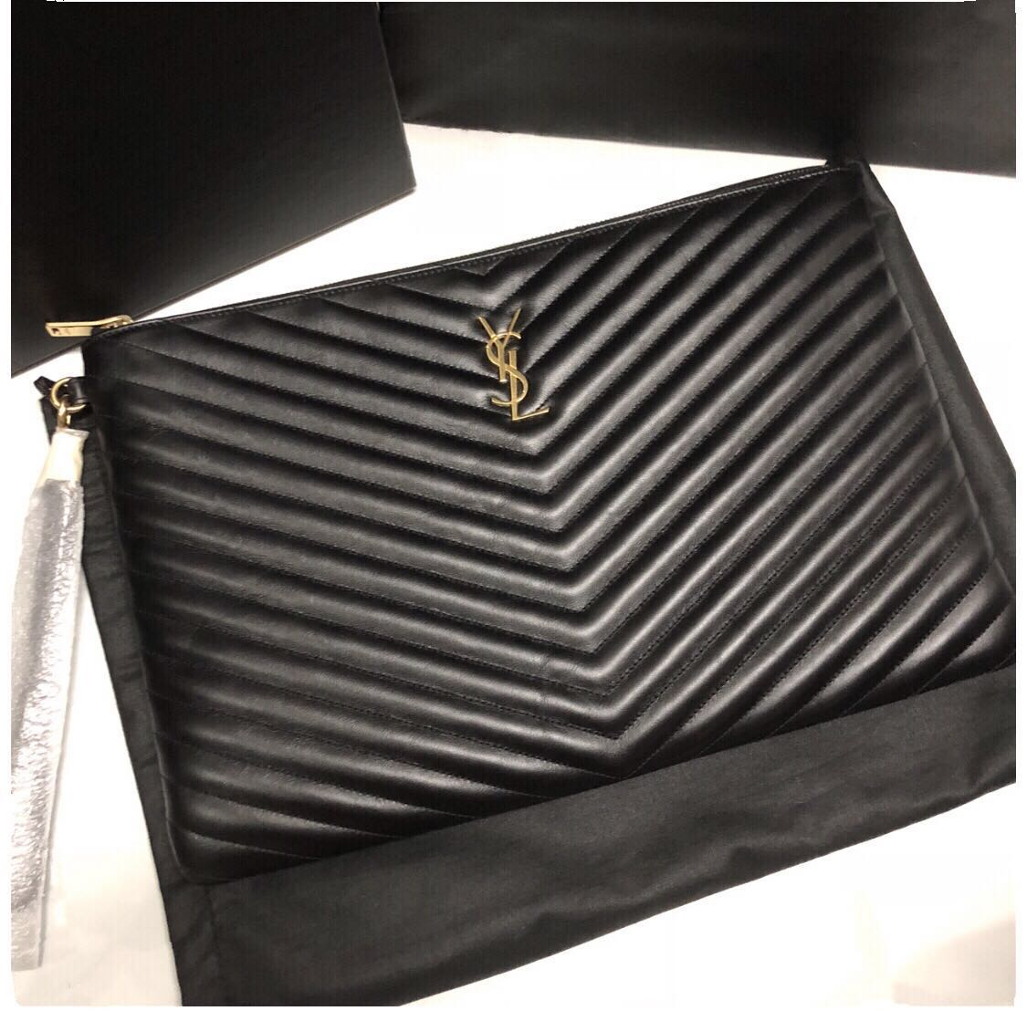 9ddeb64c655 💯Brand New YSL Large O Case Pouch / Clutch, Luxury, Bags & Wallets on  Carousell