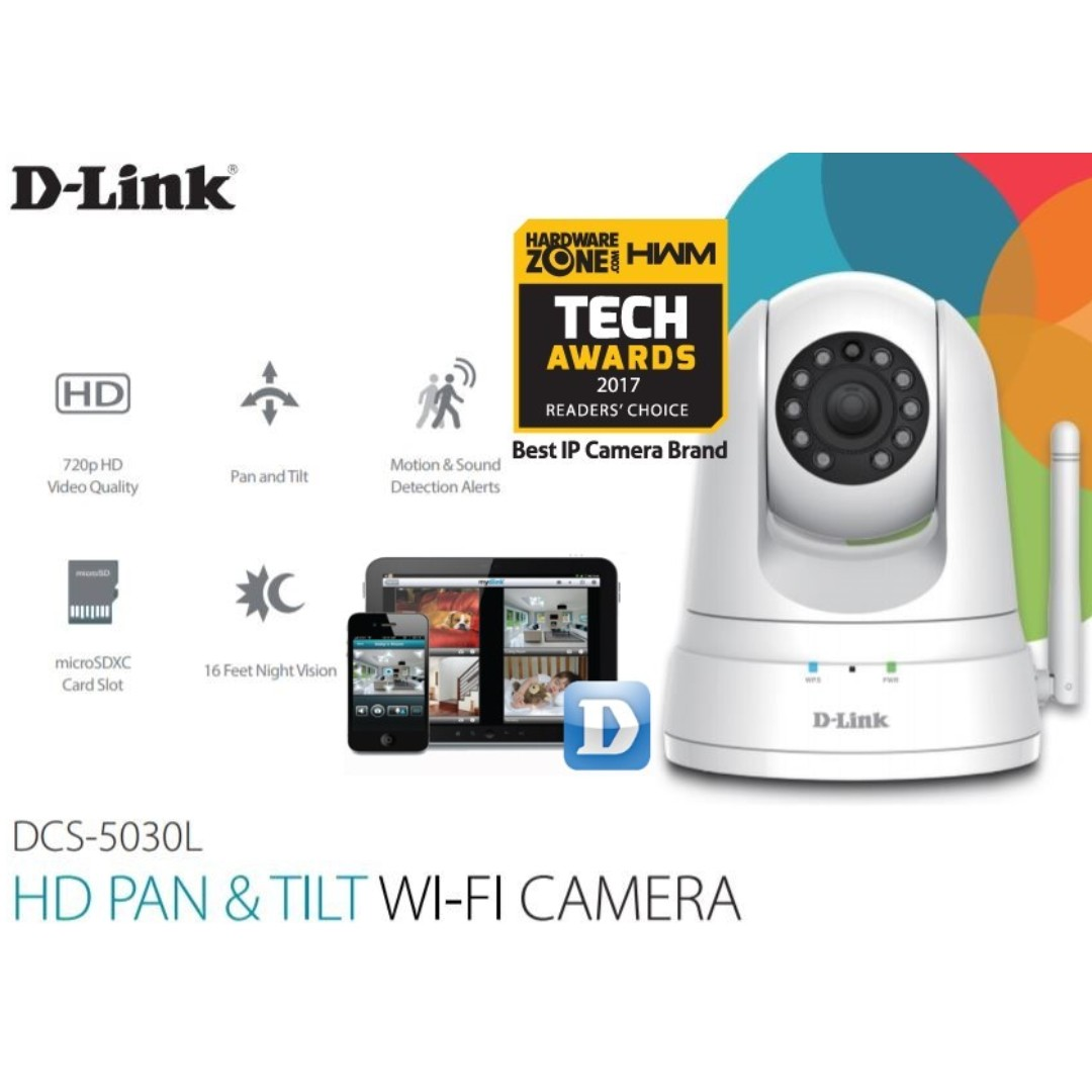 CCTV DLINK DCS-5030L HD PTZ IP CAMERA, Electronics, Computer Parts &  Accessories on Carousell