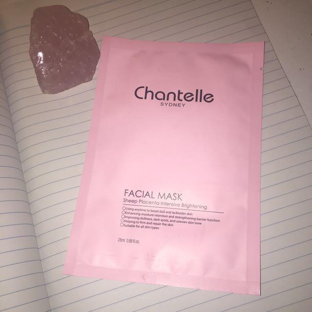 Chantelle Facial Mask Sheep Placenta Intensive Brightening