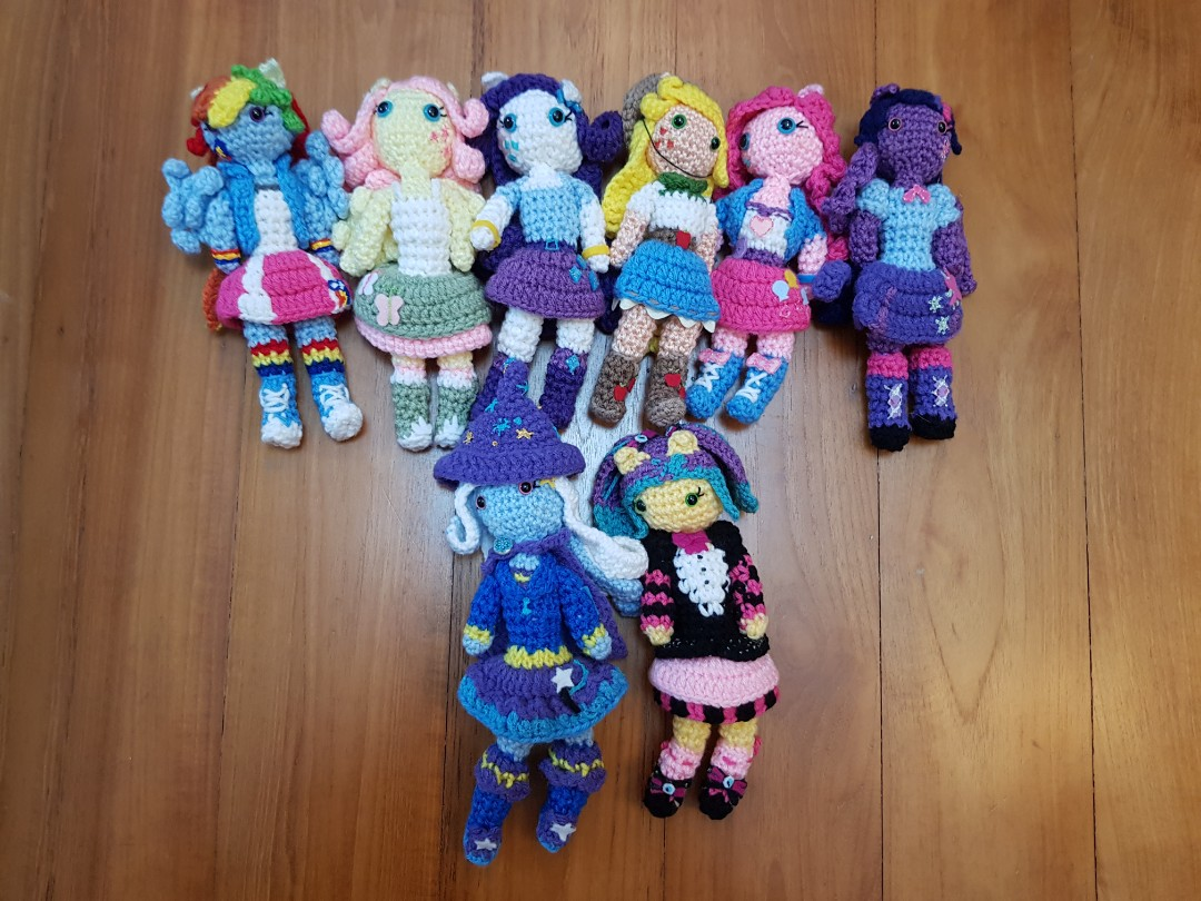 Handmade Crochet My Little Pony Dolls Toys Games Stuffed Toys On