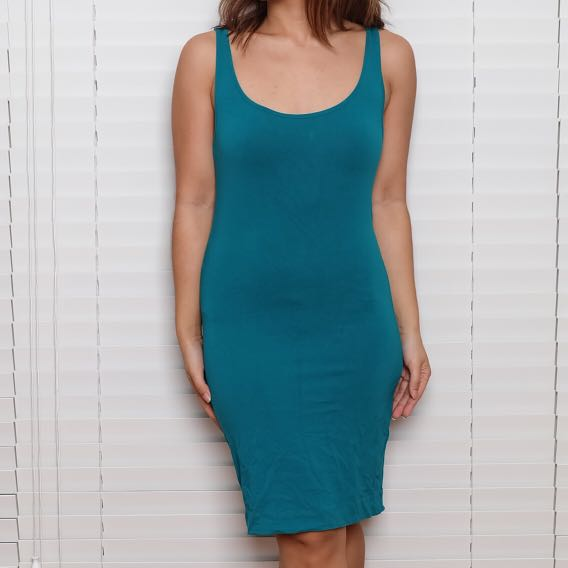 H&M Turquoise Fitted Dress