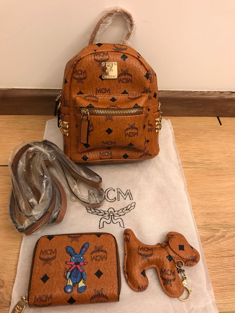 35a9fa269f31 Inspired MCM backpack 3 in 1 backpack cum sling for let go ...
