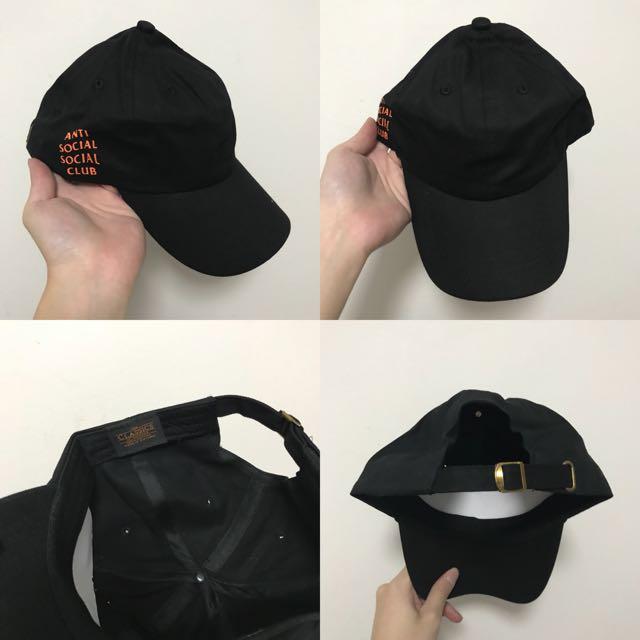 "INSTOCKS Black ""Orange ASSC"" Baseball Cap 60ce0373a55"