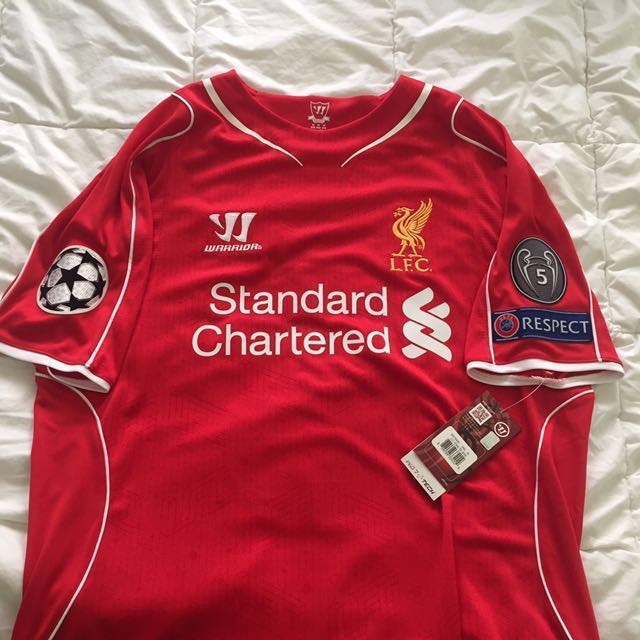 best service 38fab ebf22 Liverpool 2014/2015 Champions League Edition Home kit ...