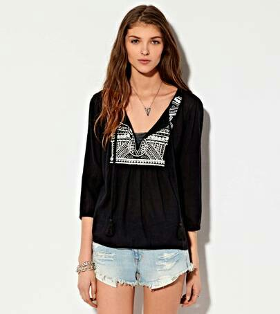 NEW AMERICAN EAGLE PEASANT TOP
