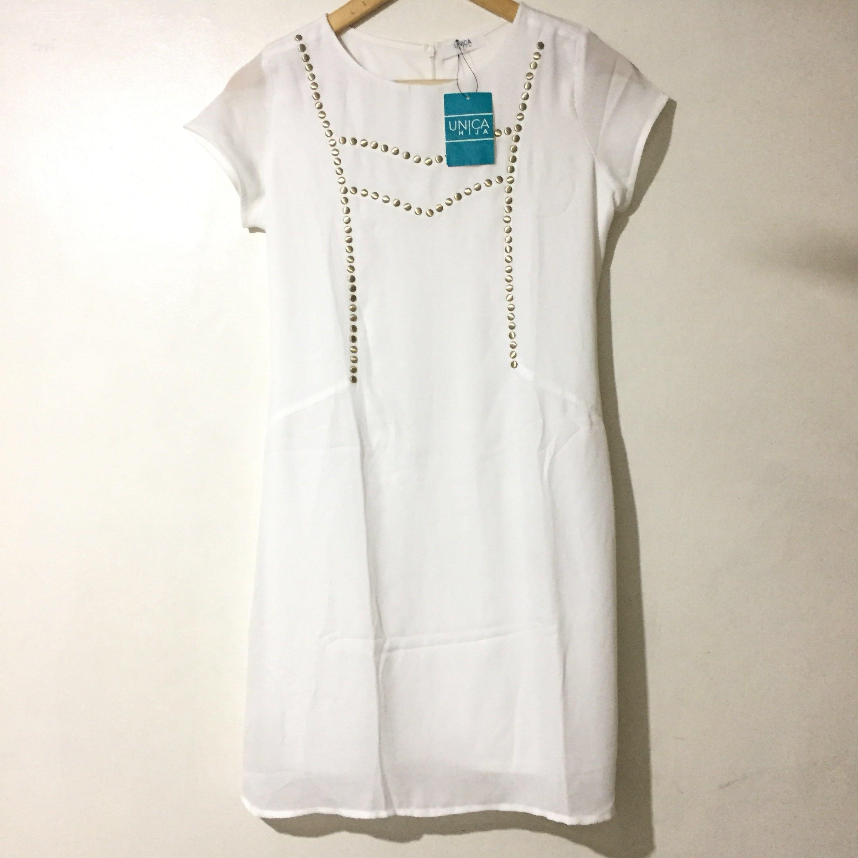 NEW Unica Hija White Dress, Women's