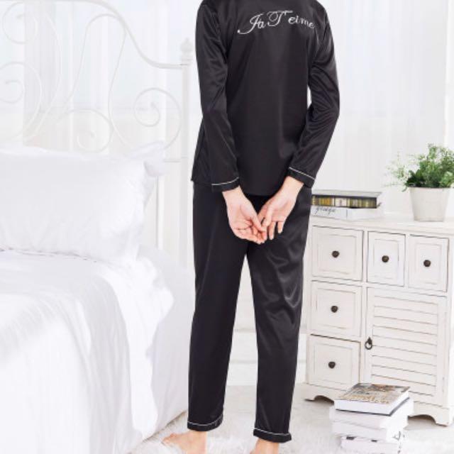 Pre-order contrast Binding Satin Shirt & Pants Pj Set
