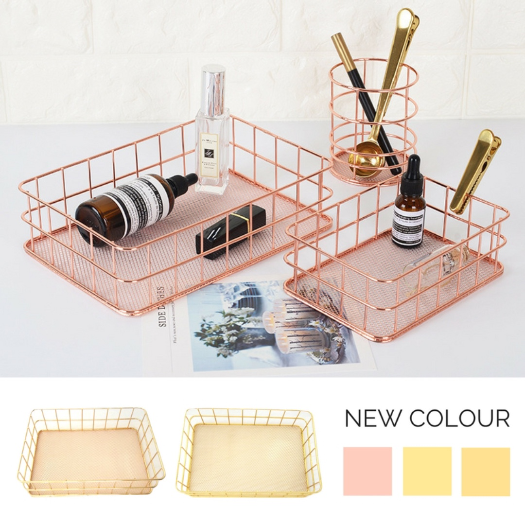 Rose Gold Stationary Desk Accessories