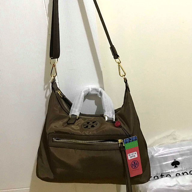 da647330700a SALE! Tory Burch Sling Bag (Nylon- Coffee Color)
