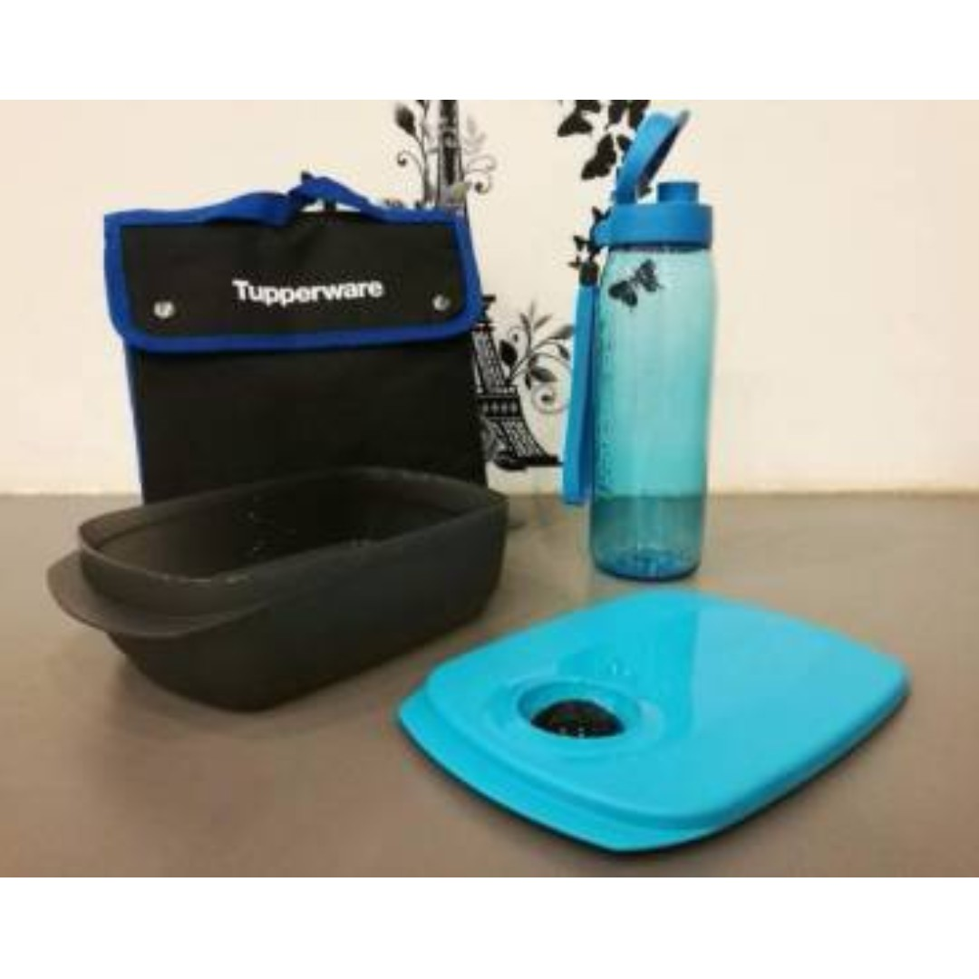 Tupperware Executive Lunch Set Pouch, Kitchen & Appliances on Carousell