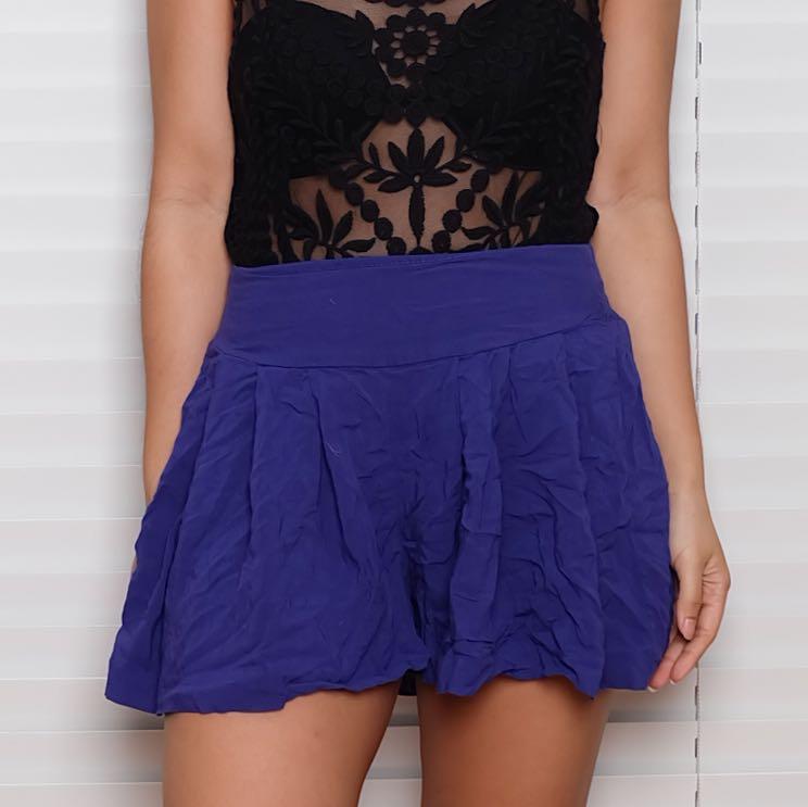 Xhiliration Purple Shorts