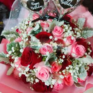 Mother day Bouquet/Flower bouquet/hand Bouquet/birthday Bouquet/anniversary Bouquet/proposal Bouquet/graduation Bouquet