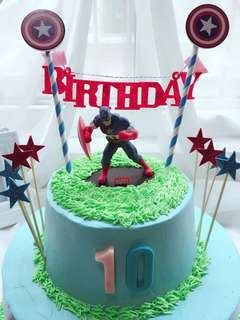 💥 Superheroes Avengers Capt America party supplies - toy / figurine / DIY Cake deco / cake topper