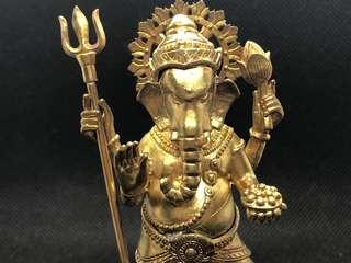 🕑 (PREORDER) - Thai Amulet - Phra Pikanet Bucha - Ganesha - Elephant God - Gold Plated - Statue - Limited Edition - Thai Amulets