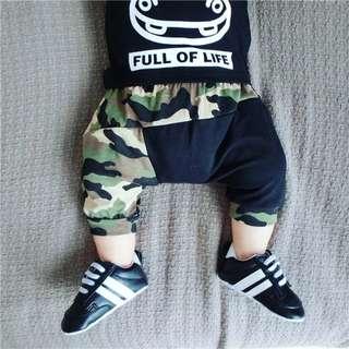 Baby Boy Harem Hiphop Camo pants