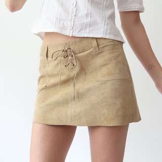 Abercrombie Suede Lace Up Skirt