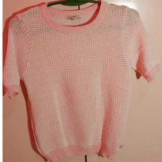 Peppermint knitted blush pink