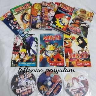 Naruto + note book + cd