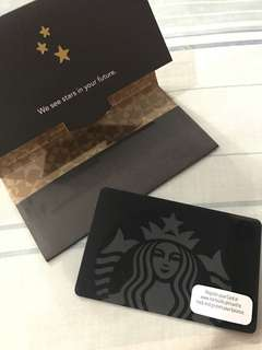 Starbucks Card Black Siren Limited Edition with Load