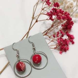 Red Red Love Earrings stud