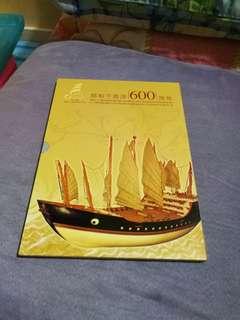 Hong kong post stamp 香港郵政郵票套摺鄭和下西洋600周年小本