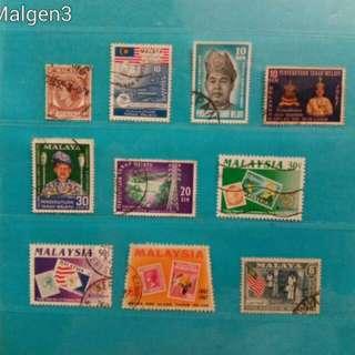 Set of Malaya / Malaysia stamps