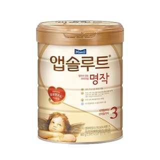 Milk power Formula Absolute Premium Myungjak Stage 3 800ml* 11cans