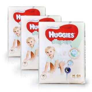 CARTON SALE Huggies Platinum Diapers