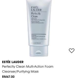 🆕Estee Lauder Perfectly Clean Multi Action Cleansing Foam/Purifying Mask