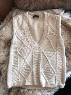 APC cream wool knit vest size Small