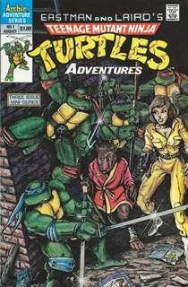 Teenage Mutant Ninja Turtles Adventures #1 1st App Beebop , Rocksteady and Krang !!!
