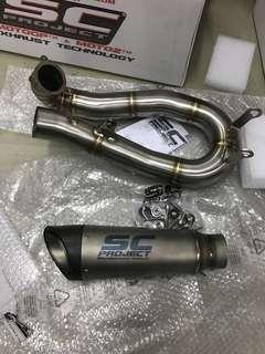 ScPrpject S1 Totanium Miffler + Decat pipe (Panigale 1199)