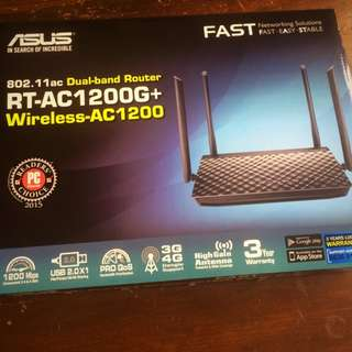Dual Band Wireless Router Asus RT-AC 1200G+