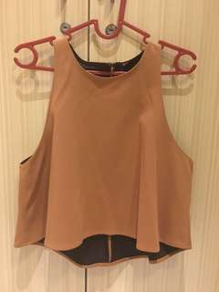 Crop top brown vivorie