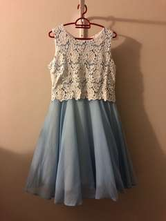 Baby Blue Dress with Details