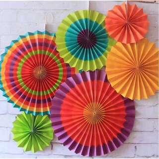 Paper Fan Set (6pcs)