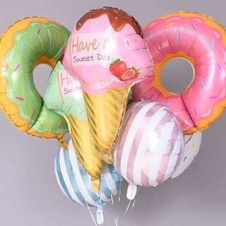 Donut and Ice Cream Balloons