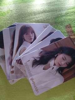 yes card 韓國女團GUGUDAN 一共七張(差 Hana、Hyeyeon)