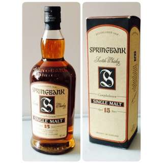 絕版 Springbank Vintage 1987 15yrs Single Malt Whisky