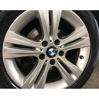 "Original BMW 17"" rims & Michelin PS4 tyres"