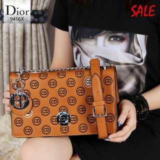 DIOR Diorisimo Bag Hardware Silver leather 9416X*
