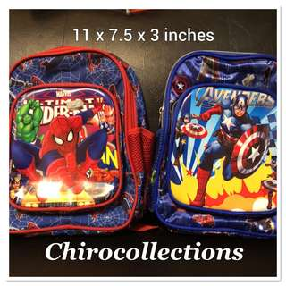 Spiderman and Capt America Backpack