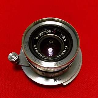 Nikon W-Nikkor C 3.5cm f2.5 LTM Lens + Box