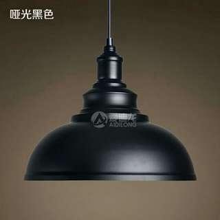 Black Loft Pendant Light