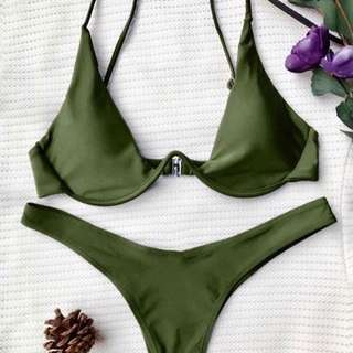 Army Green Wired Bikini